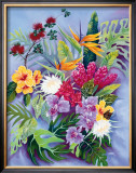 Island Floral Framed Giclee Print by Warren Rapozo