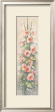 Hollyhocks I Posters by Peggy Thatch Sibley