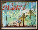 Miami Sunblock Limited Edition Framed Print by M.J. Lew