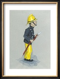 The Fireman Limited Edition Framed Print by Simon Dyer