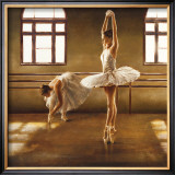 Ballet Dancers Print by Cristina Mavaracchio