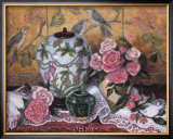 Roses with Green Jar Posters by Francie Botke