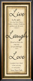 Sage Sign, Live Laugh Love Poster by Debbie DeWitt