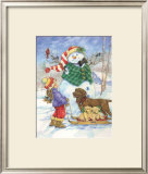 Frosty Morning Greeting Posters by Donna Race