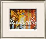 LA Champagne Limited Edition Framed Print by M.J. Lew