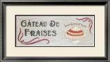 Gateau de Fraises Posters by Louise Max