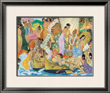 Aloha Universal Word Framed Giclee Print by Eugene Savage