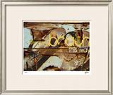 Beach This Way Limited Edition Framed Print by M.J. Lew