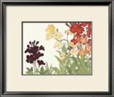 Japanese Flower Garden I Print by Konan Tanigami