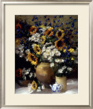 Sunflowers and Teapot Posters by F. Janca