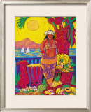 Seaside Market Framed Giclee Print by Rick Sharp
