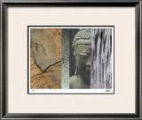 Buddha in My Garden I Limited Edition Framed Print by M.J. Lew