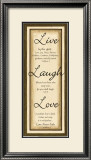 Sage Sign, Live Laugh Love Art by Debbie DeWitt