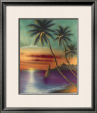 Diamond Head Sunset Framed Giclee Print by  Mokihana