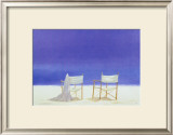 Canvas Chairs on Beach Art by Lincoln Seligman