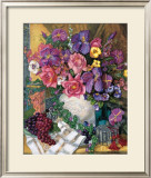 Victorian Bouquet Print by Francie Botke