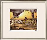 Gone Surfing Limited Edition Framed Print by M.J. Lew