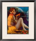 Starlight Wahine Framed Giclee Print by Gene Pressler