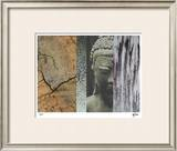Buddha in My Garden I Limited Edition Framed Print by M.J. Lew