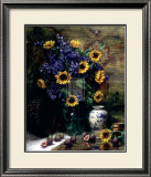 Sunflowers and Figs Prints by F. Janca