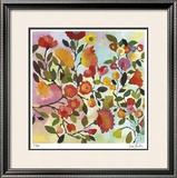 Rose Trellis Limited Edition Framed Print by Kim Parker