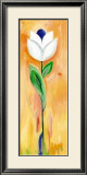 Double White and Blue Tulip Prints by Ingrid Sehl