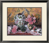 Roses with Green Jar Prints by Francie Botke