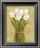 White Tulips in String Poster by Cuca Garcia