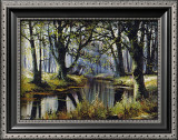Tranquility by the trees Print by Reint Withaar