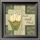 Tulips, Faith Family Friends Posters by Maria Girardi