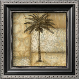 Golden Palm I Print by  DeRosier