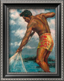 Island Fisherman Art by  Mickelson