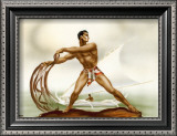 Net Fisherman with Outrigger Prints by  Gill