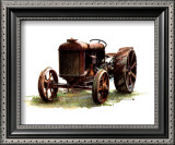 Early Model Fordson Tractor Art by Sharon Pedersen