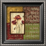 Spice 4 Patch: Where There is Hope Print by Debbie DeWitt