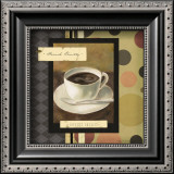 Drinking French Vanilla Coffee Art by Carol Robinson