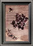 Antique Flowers III Print by Jeanne Hughes