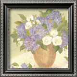 Sun Porch Hydrangeas II Posters by Patricia Roberts