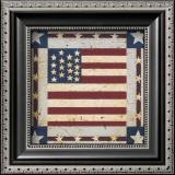 Flag Square Prints by Warren Kimble