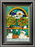 Blossoming Kitchen I Art by Jean-Pierre Delyle