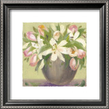 Tulips and Lilies Print by Patricia Roberts