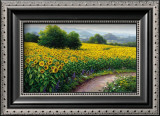 Field of Sunflowers Art by Gerhard Nesvadba