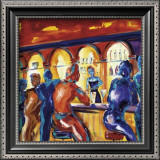Friends at the Bar Print by Alfred Gockel