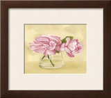 Pink Roses in Vase Prints by Cuca Garcia