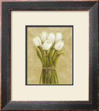White Tulips in String Prints by Cuca Garcia