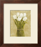 White Tulips in String Posters by Cuca Garcia