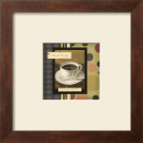 Drinking French Vanilla Coffee Print by Carol Robinson