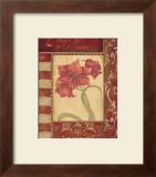 Sienna Blooms II Art by Jo Moulton