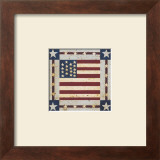 Flag Square Poster by Warren Kimble