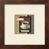 Drinking Hazelnut Coffee Prints by Carol Robinson